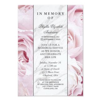 Cerimonia comemorativa cor-de-rosa do rosa & a convite 12.7 x 17.78cm