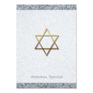 Cerimonia comemorativa dourada da pedra 1 da convite 12.7 x 17.78cm