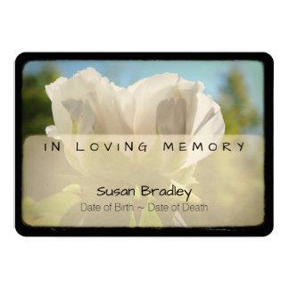 Cerimonia comemorativa fúnebre 2 do vintage da convite 12.7 x 17.78cm