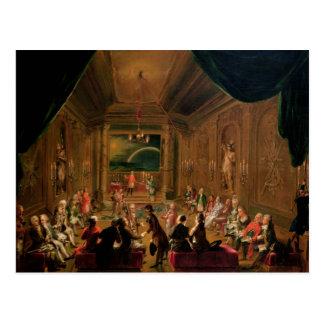 Cerimónia da iniciação em um maçónico vienense cartão postal