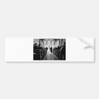 Cerimónia de casamento adesivo para carro