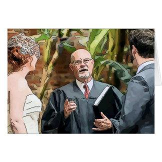Cerimónia de casamento cartão comemorativo