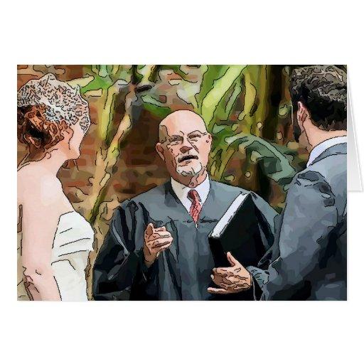 Cerimónia de casamento cartões