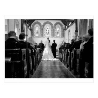 Cerimónia de casamento cartão postal
