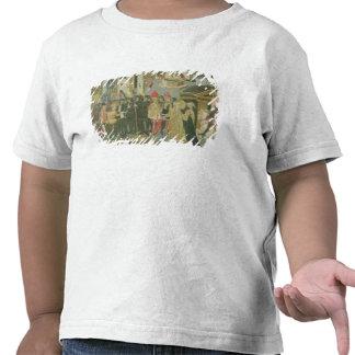 Cerimónia de casamento pintada no painel do t-shirt
