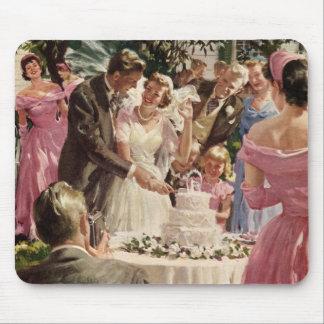 Cerimónia de casamento vintage mousepads