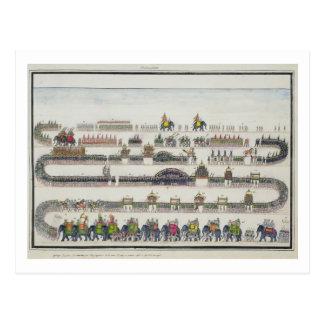 Cerimónia de Muharram, Faizabad, 1772 'do Gentil Cartão Postal