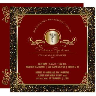 Cerimónia fixando da festa de formatura | da convite quadrado 13.35 x 13.35cm