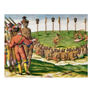 Cerimónia indiana da vitória de Brevis Cartoes Postais
