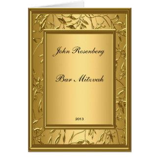 Cerimónia popular de Mitzvah do bar de ouro Cartão Comemorativo