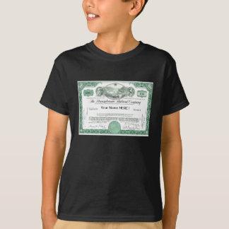 Certificado conservado em estoque da estrada de t-shirts