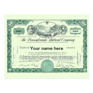 Certificado conservado em estoque FEITO SOB Cartão Postal