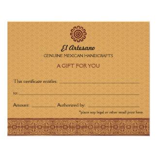 Certificado de presente cor-de-rosa do mexicano do flyer 11.43 x 14.22cm