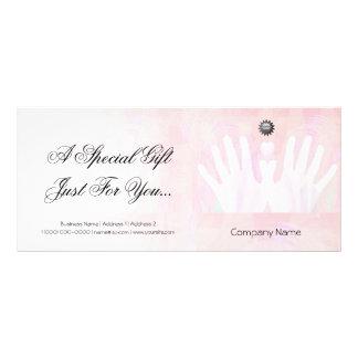 Certificado de presente cura da massagem das mãos panfletos informativos