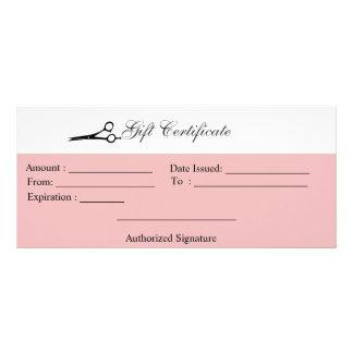 Certificado de presente das tesouras 10.16 x 22.86cm panfleto