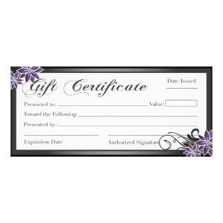 Certificado de presente do salão de beleza e dos t panfleto personalizado