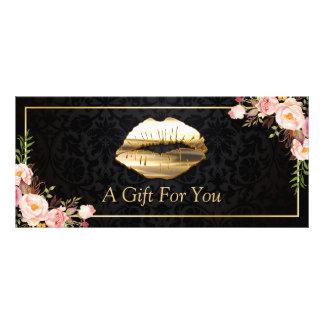 certificado de presente floral do salão de beleza 10.16 x 22.86cm panfleto