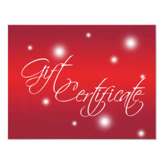 Certificado de presente vermelho do negócio de convite 10.79 x 13.97cm