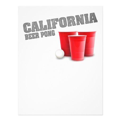Cerveja clássica Pong de Califórnia Modelo De Panfleto