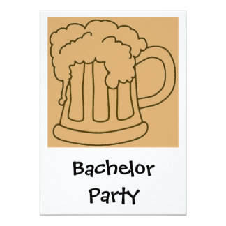 Cerveja do despedida de solteiro convite 12.7 x 17.78cm