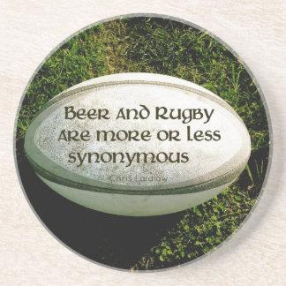 Cerveja e rugby porta copos de arenito