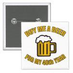 Cerveja engraçada do aniversário de 40 anos boton