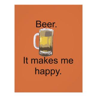 Cerveja. Faz-me feliz Flyer 21.59 X 27.94cm