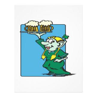 Cerveja mim irlandês Im Panfleto Coloridos