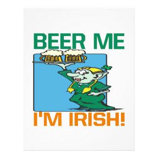 Cerveja mim irlandês Im Panfletos Personalizado