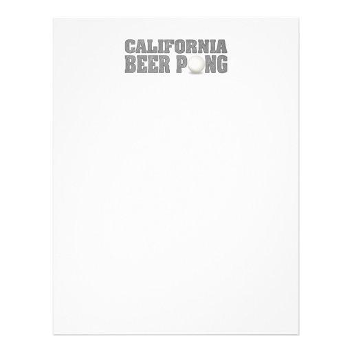 Cerveja Pong de Califórnia Panfleto Personalizado
