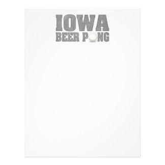Cerveja Pong de Iowa Panfleto Personalizado