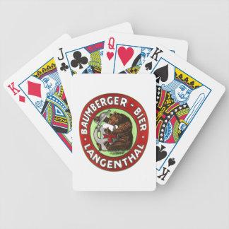 Cervejaria Baumberger Langenthal jogo de cartas