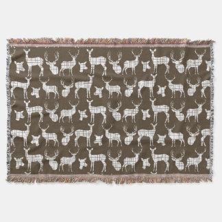 Cervos brancos na cobertura do lance de Brown Manta