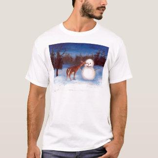 Cervos da curiosidade e Tshirt do boneco de neve