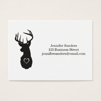 Cervos do hipster com corações cartão de visita grande