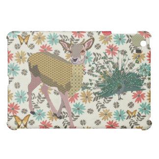 Cervos & pavão cor-de-rosa do ouro florais capas para iPad mini