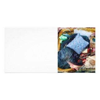 Cesta de fontes Sewing Cartões Com Fotos Personalizados