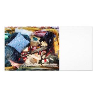 Cesta de fontes Sewing Cartoes Com Foto