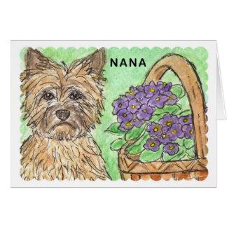 Cesta do cartão de aniversário de Terrier de monte