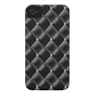 Cetim corajoso bonito do carvão da caixa de Blackb Capas iPhone 4 Case-Mate