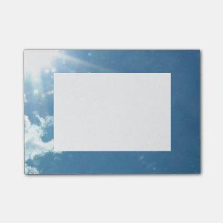 Céu 5992 - Sun e nuvens Post-it Note