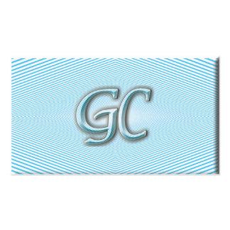Céu azul & ilusão ótica branca das listras cartão de visita