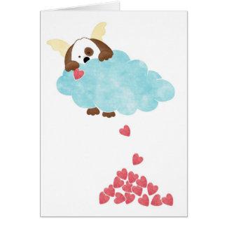 Céu do cachorrinho cartão comemorativo