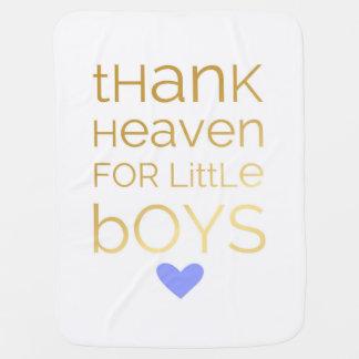 Céu do obrigado para a cobertura do bebê dos manta de bebe