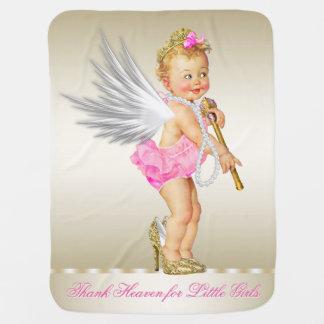 Céu do obrigado para a menina do anjo das meninas cobertor para bebe