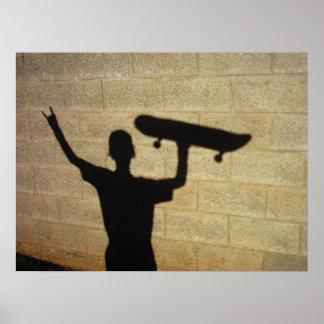 Céu do patinador pôster