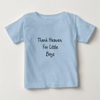 Céu para meninos - t-shirt infantil do obrigado