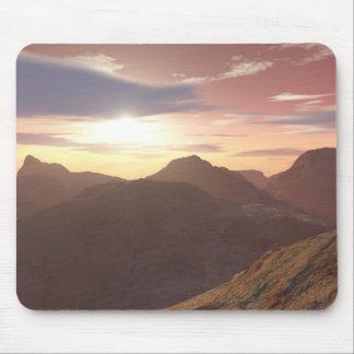 Céus do deserto mouse pad