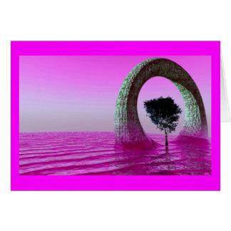 céus roxos cartão comemorativo