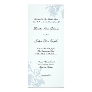 Chá azul floral dos convites do casamento da